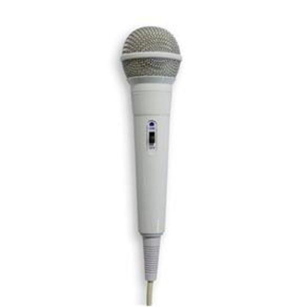 Oferta de Microfone High Performance Dynamic Cardioide Branco - Waldman por R$49,99