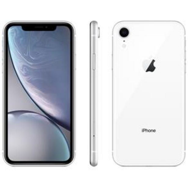 Oferta de IPhone XR Apple 64GB Branco por R$3699