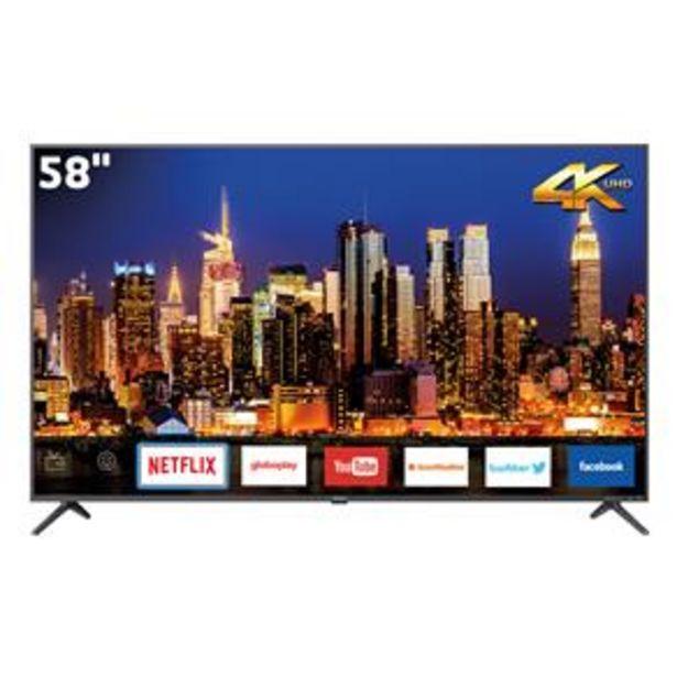 """Oferta de Smart TV LED 58"""" UHD 4K Philco PTV58F80SNS com Netflix por R$2399"""