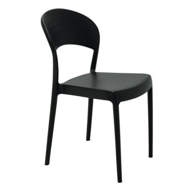 Oferta de Cadeira Sissi Encosto Fechado Tramontina - Preto por R$149,99