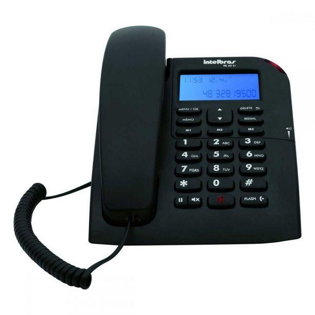 Oferta de Telefone intelbras TC60ID - Preto por R$99,99