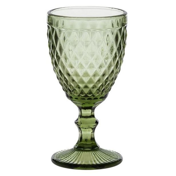 Oferta de Taça Para Água Bico De Abacaxi 260Ml Lyor - Verde por R$14,99