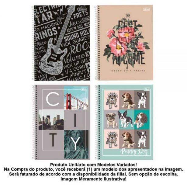 Oferta de Caderno Espiral 10 Matérias 200 Folhas Tilibra - 313343 por R$7,99