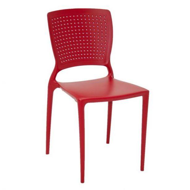Oferta de Cadeira Safira Vermelha sem Braços Tramontina - 92048/040 por R$149,99