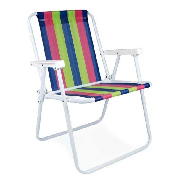 Oferta de Cadeira Alta Fixa de Ferro Pintura Epóxi 2002 Mor - Sortido por R$49,99