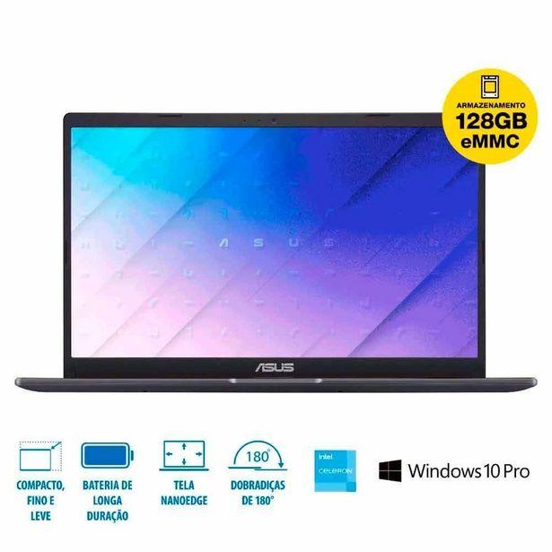 Oferta de Notebook Asus E510ma Celeron/4Gb/128Gb/Windows 10 Pro - DIVERSOS por R$2399,85