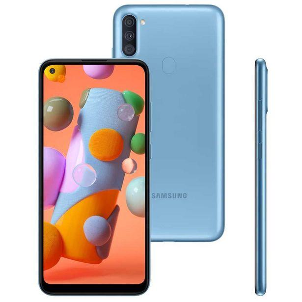 """Oferta de Celular Smartphone Galaxy A11 64GB 6,4"""" Samsung - Azul por R$1299,9"""