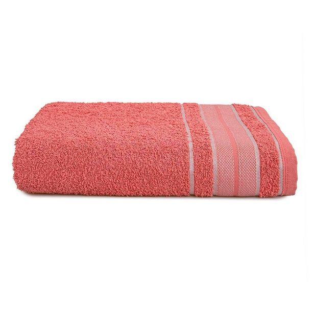 Oferta de Toalha De Banho 67X135cm Linea Karsten - Rosa por R$19,99