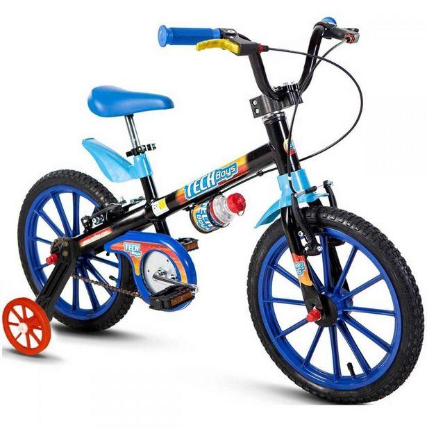Oferta de Bicicleta Infantil Aro 16 Tech Boys Nathor - Preto por R$499,9