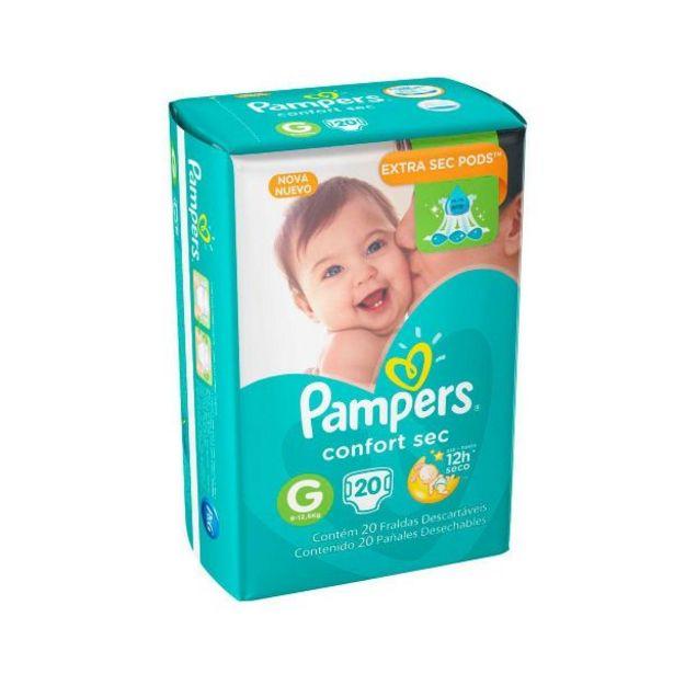 Oferta de Fralda Pampers Confort Sec Pacotão G Com 20 Unidades - DIVERSOS por R$27,99