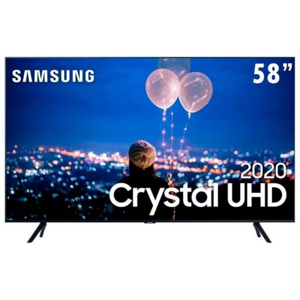 "Oferta de Smart Tv Led 58"" 4K Crystal Uhd Samsung Tu7000 - Bivolt por R$3199,9"