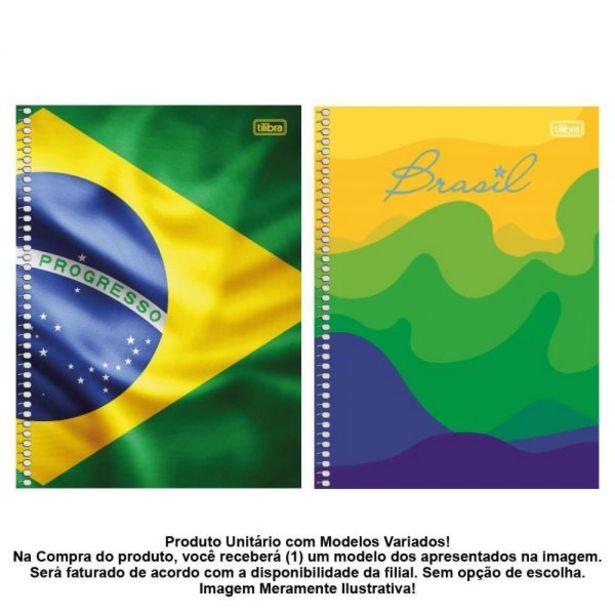 Oferta de Caderno Espiral 10 Matérias Brasil 200 Folhas Tilibra - 312649 por R$7,99