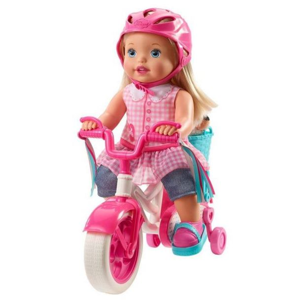 Oferta de Boneca Little Mommy Meu Primeiro Passeio Mattel - FCN11 por R$249,9