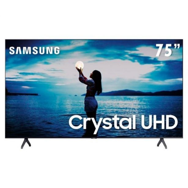 "Oferta de Smart TV LED 75"" 4K Crystal UHD Samsung TU7020 - Bivolt por R$6999,9"