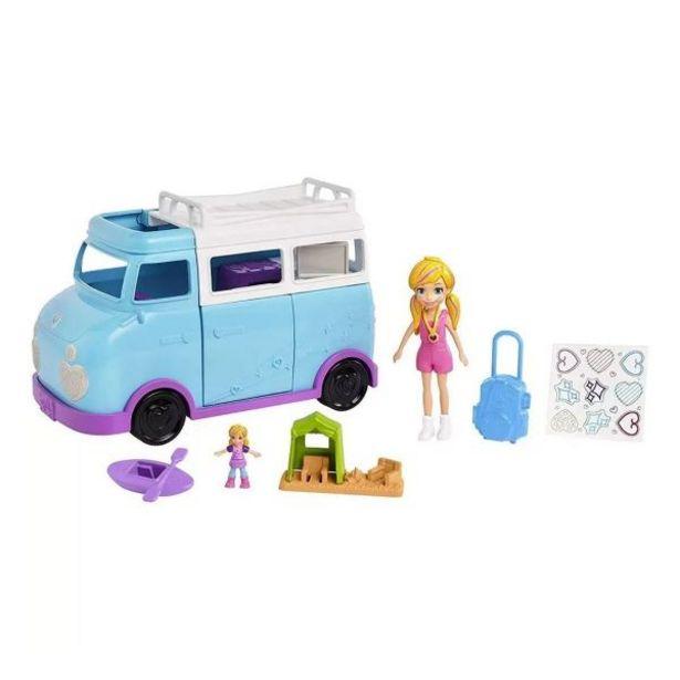 Oferta de Boneca Polly Pocket Glamorosa Van de Campismo Mattel - FTP74 por R$79,99