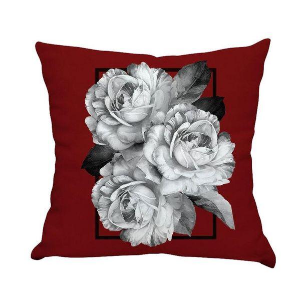 Oferta de Almofada Estampada De Veludo 48X48cm - Rosas Moldura por R$49,99