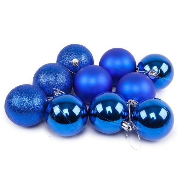 Oferta de Conjunto de Bolas 6cm com 10 Peças Havan - Azul por R$9,59