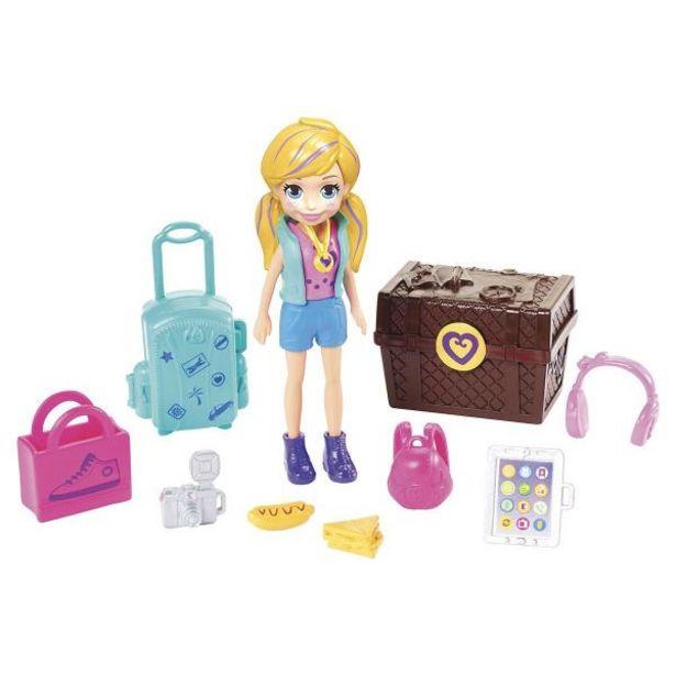 Oferta de Boneca Polly Pocket Kit De Viagem Gdm12 Mattel - Azul por R$27,99