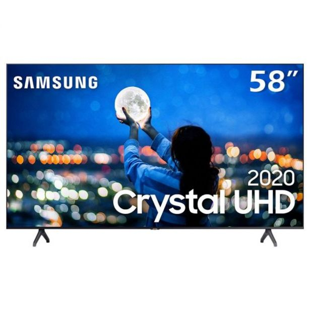 "Oferta de Smart Tv Led 58"" 4K Crystal Uhd Samsung Tu7020 - Bivolt por R$3199,9"