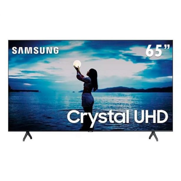 "Oferta de Smart Tv Led 65"" 4K Crystal Uhd Samsung Tu7020 - Bivolt por R$3899,9"