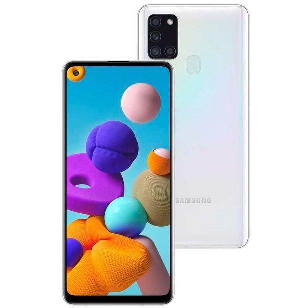 """Oferta de Celular Smartphone Galaxy A21s 64Gb 6,5"""" Samsung - Branco por R$1599,9"""