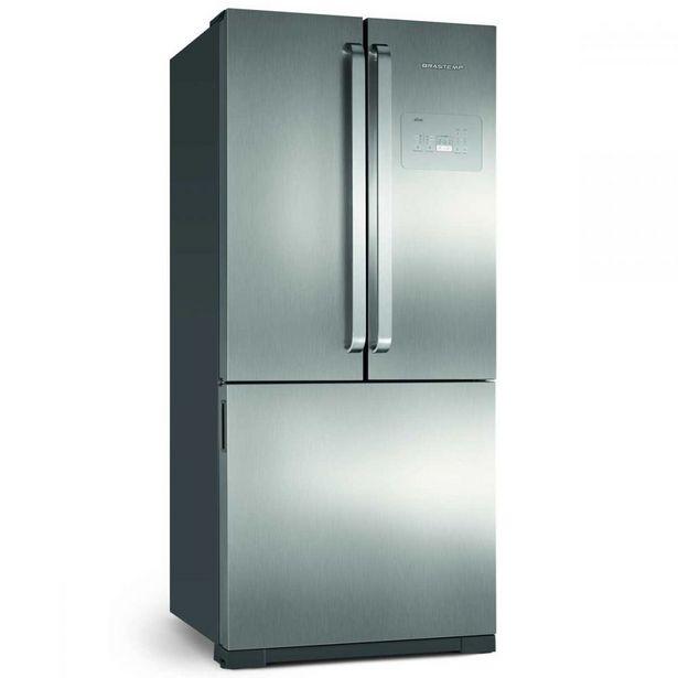 Oferta de Refrigerador Side Inverse 540 Litros Brastemp BRO80AK por R$5999,9