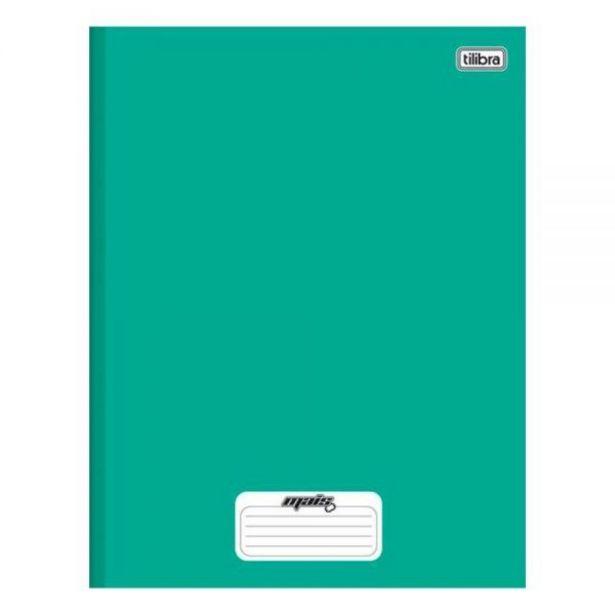 Oferta de Caderno 1 Matéria Costurado Verde Mais 96 Folhas Tilibra - 116793 por R$4,49