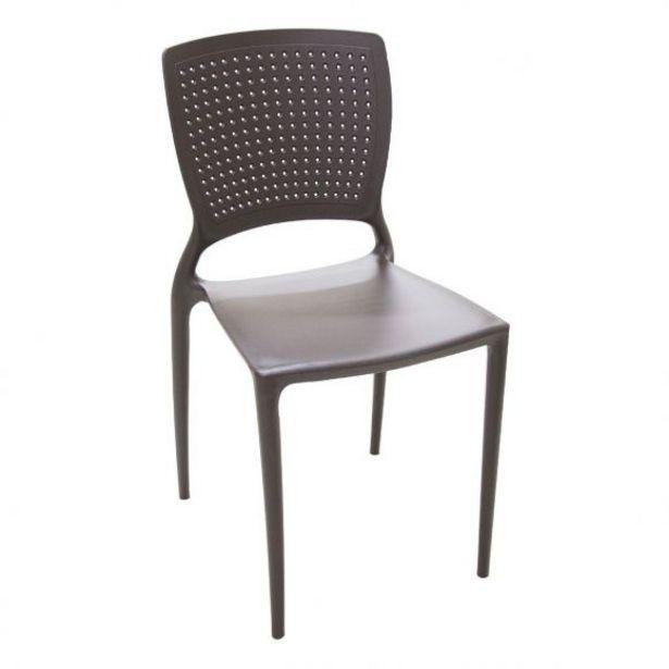 Oferta de Cadeira sem Braços Marrom Safira Tramontina - 92048/109 por R$149,99