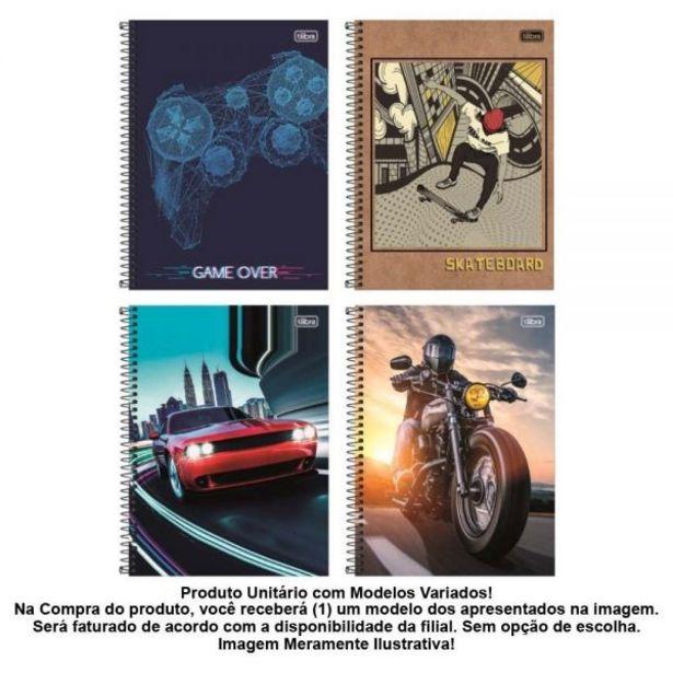 Oferta de Caderno Espiral 10 Matérias 200 Folhas Tilibra - 590576 por R$7,99