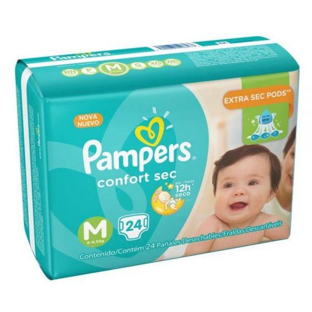 Oferta de Fralda Pampers Pacotão Confort Sec Tamanho M 24 Unidades - DIVERSOS por R$27,99