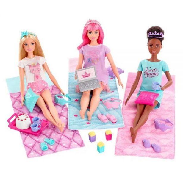 Oferta de Boneca Barbie Princess Adventure Slumber Party Mattel - GJB68 por R$149,9