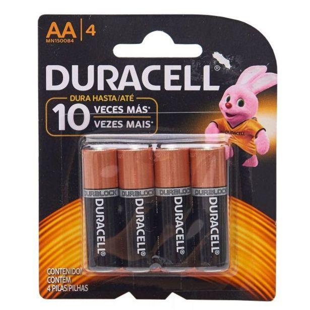 Oferta de Pilha Alcalina AA com 4 Unidades Duracell - 5109 por R$14,99
