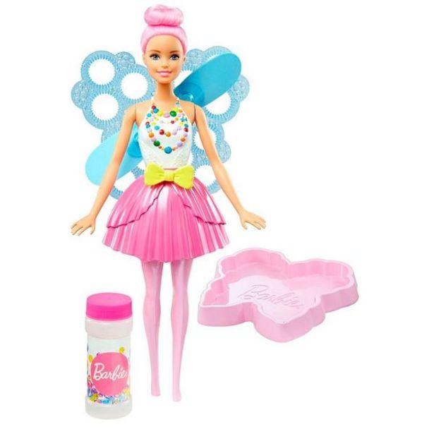 Oferta de Boneca Barbie Fada Bolhas Mágicas Dreamtopia Mattel - Rosa por R$84,99