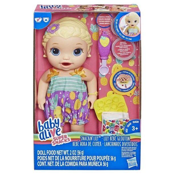 Oferta de Boneca Baby Alive Lanchinhos Divertidos Loira Hasbro - E5841 por R$129,99