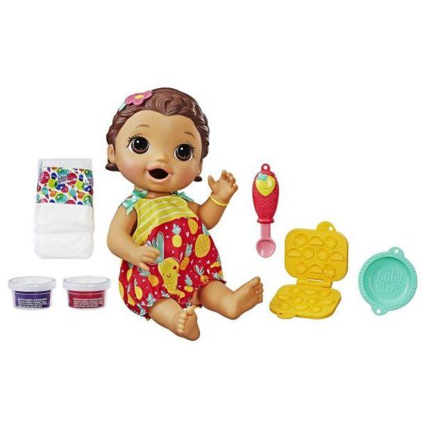Oferta de Boneca Baby Alive Lanchinhos Divertidos Morena Hasbro - E5842 por R$129,99