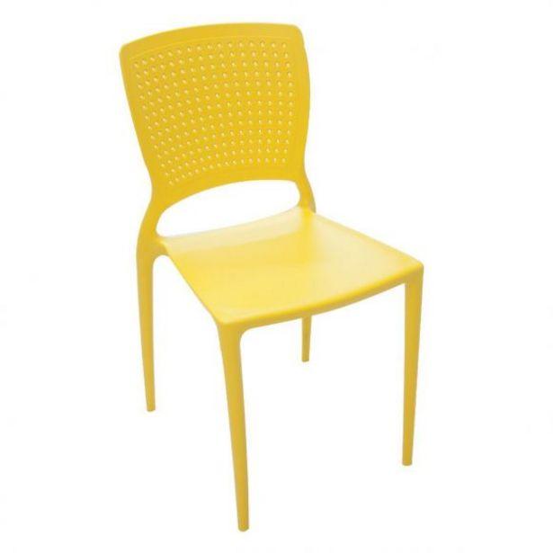 Oferta de Cadeira Safira Amarela Tramontina - 92048/000 por R$149,99