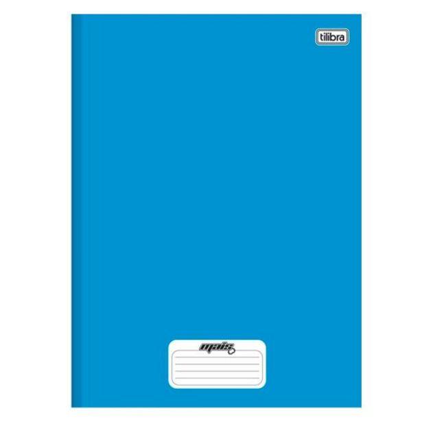 Oferta de Caderno 1 Matéria Costurado Azul Mais 96 Folhas Tilibra - 116785 por R$4,49