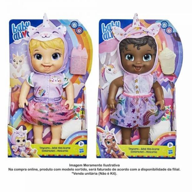 Oferta de Boneca Baby Alive Tinycorn Hasbro - E9422 por R$99,99