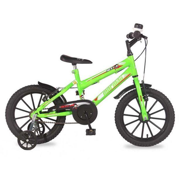 Oferta de Bicicleta Infantil Mormaii Next Verde Neon Aro16 - 202070101014201 por R$499,9