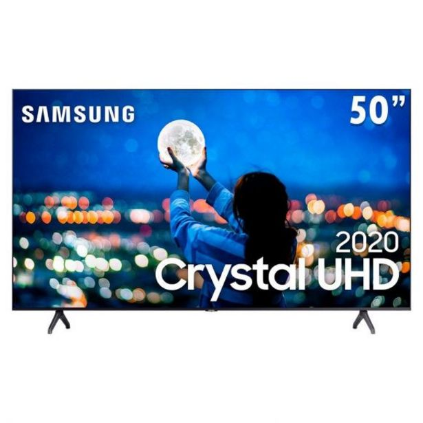"Oferta de Smart Tv Led 50"" 4K Crystal Uhd Tu7000 Samsung - Bivolt por R$2699,9"