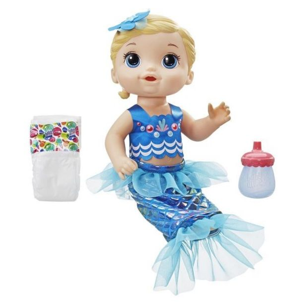 Oferta de Boneca Baby Alive Linda Sereia Hasbro - Loira por R$129,99