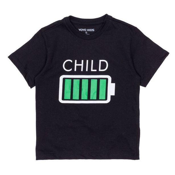 Oferta de Camiseta 1 a 3 anos Child Bateria Yoyo Kids Preto por R$19,99
