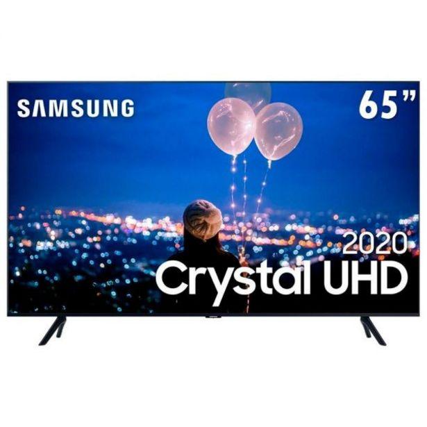 "Oferta de Smart Tv Led 65"" 4K Crystal Uhd Samsung Tu8000 - Bivolt por R$3899,9"