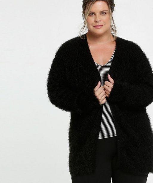 Oferta de Cardigan Feminino Tricô Felpudo Plus Size Marisa  por R$47,99