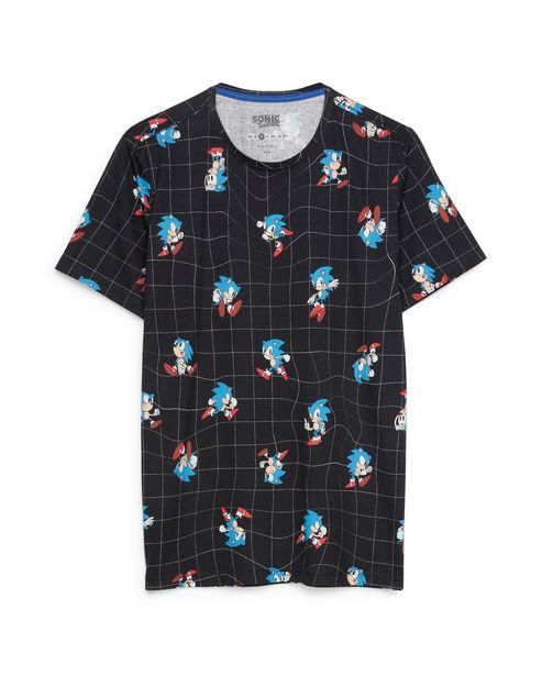 Oferta de Camiseta Geométrica Sony SEGA - Preto por R$59,9