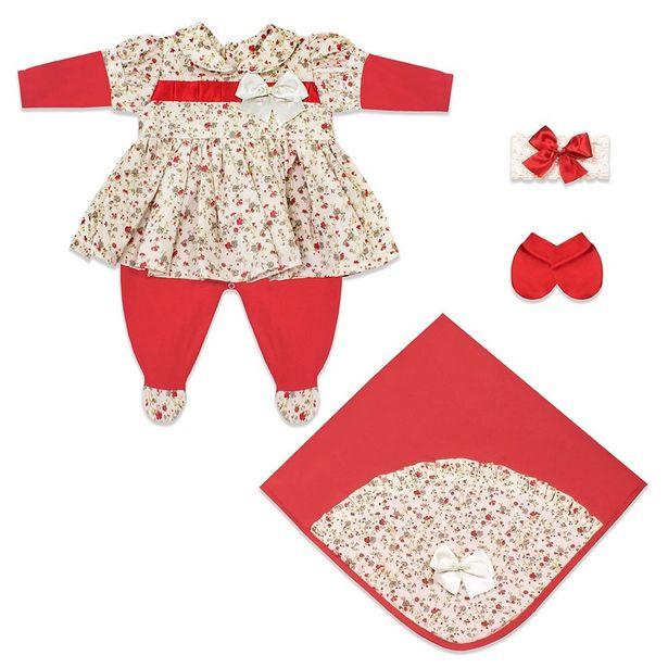 Oferta de Saída Maternidade Maitê 4 Peças por R$83,88
