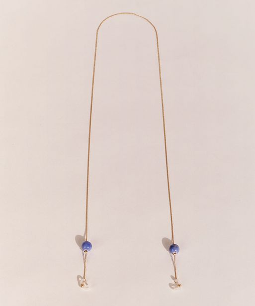 Oferta de Corrente de Óculos Feminina EMI Beachwear Esferas Decoradas Dourado por R$10,99