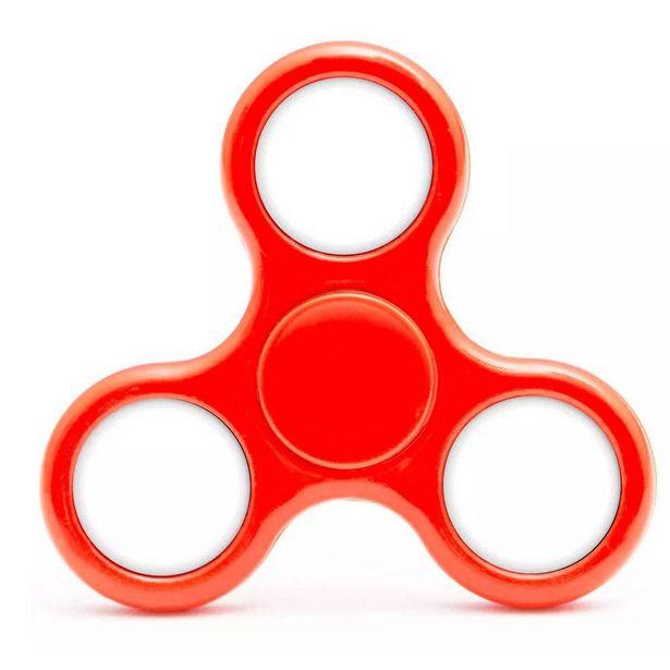 Oferta de Hand Spinner Anti Stress Certificado - Fidget Light Spinner - Candide - AMARELO - VERMELHO por R$9,98