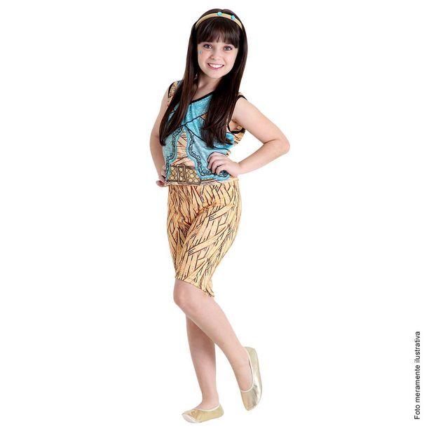 Oferta de Fantasia Cleo de Nile Infantil Pop - Monster High por R$29,99
