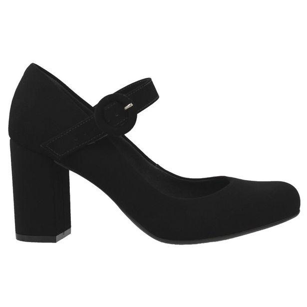 Oferta de Sapato Bebecê Mary Jane Feminino Nobuck Preto por R$49,89